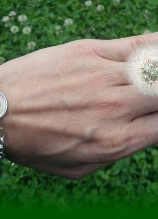 Kup mój przedmiot na #vintedpl http://www.vinted.pl/akcesoria/bizuteria/14356370-bransoletka-z-nasionami-dmuchawca-w-zywicy