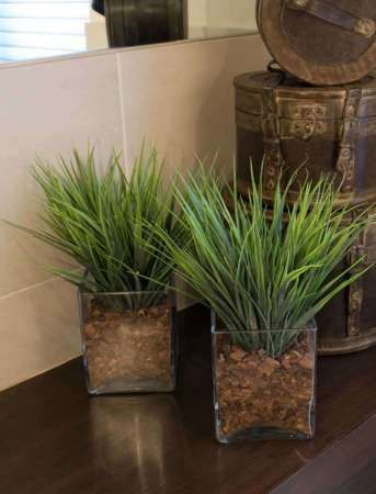 Vanilla Grasses in Glass. New size available | RTfact | Artificial Silk Flowers