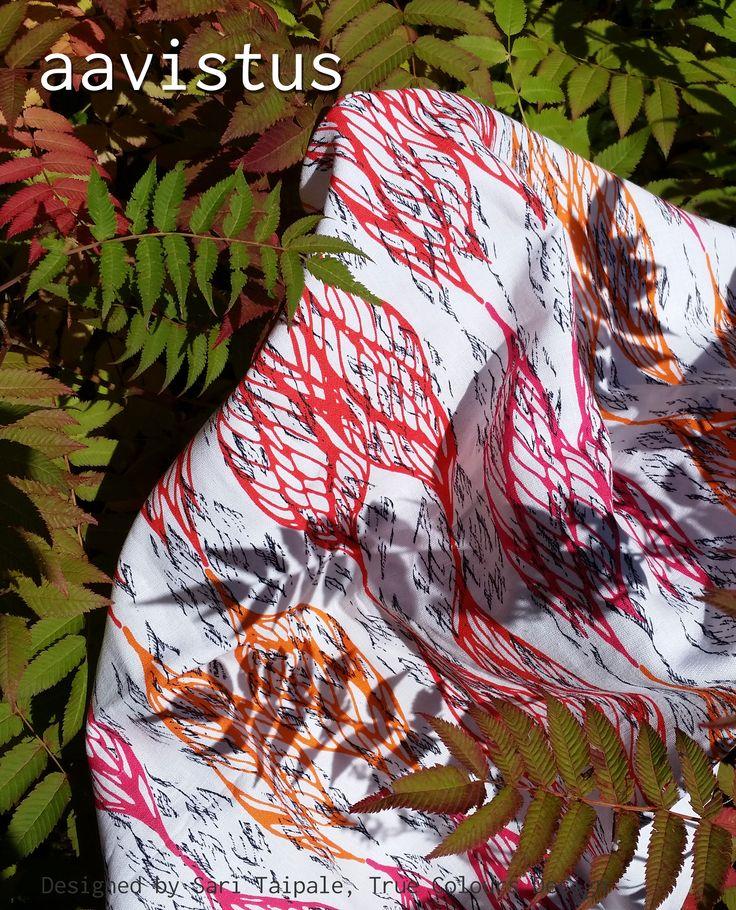 Aavistus, uusi digitaalisesti tulostettu tilauskangas puolipellavaa, Design Sari Taipale #habitare2014 #design #sisustus #messut #helsinki #messukeskus