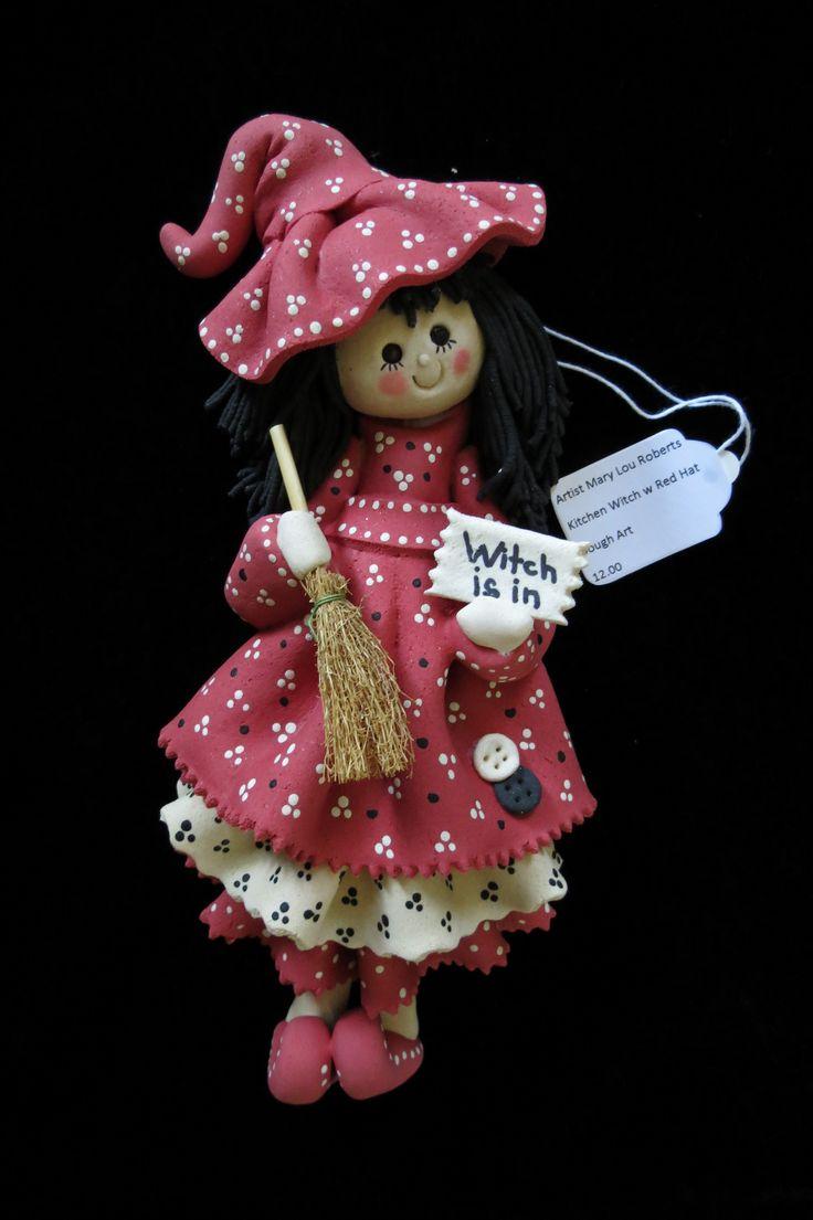 Kitchen Witch Dough Art Doll