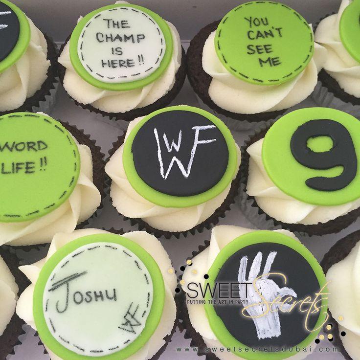 WWF Cupcakes www.sweetsecretsdubai.com