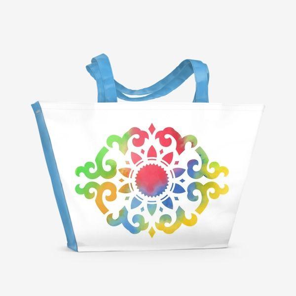 Пляжная сумка Разноцветный азиатский орнамент №3, Автор: Алла Ринчино, Цена: 1500 р.