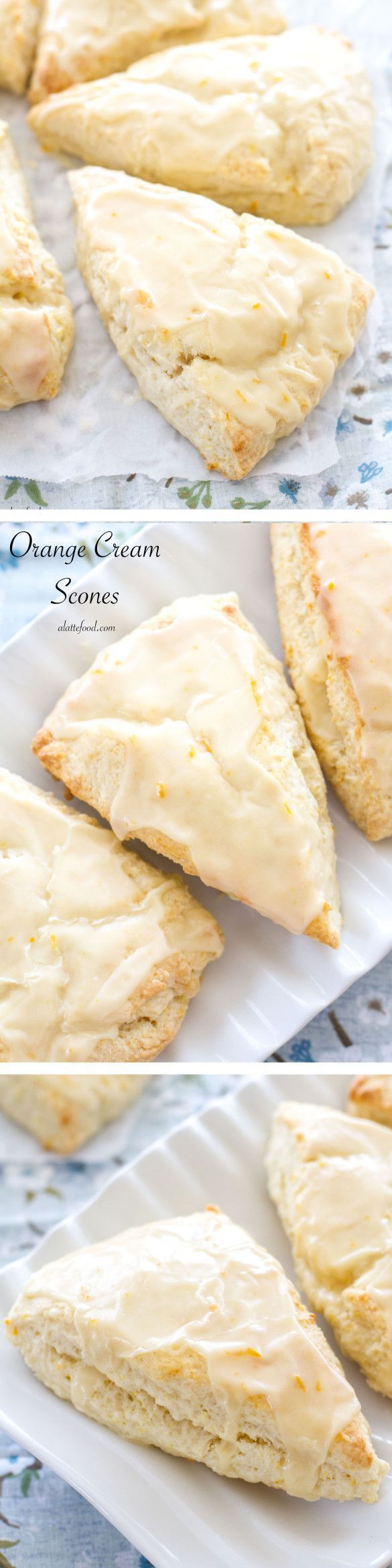 This orange cream scone recipe is sweet, flaky, and the perfect breakfast or brunch recipe!