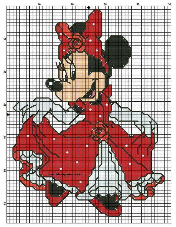 Resultado de imagen de colcha pixelada miki maus