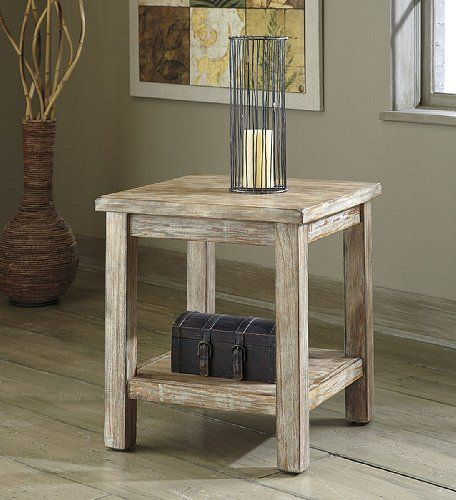Ashley Furniture T500 302 Chair Side Vintage Rustic End Table Ashley,http:/