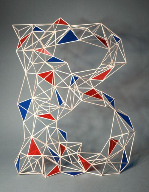 : Art Frames, Zim Zou, Typographic Playground, Graphics Porn, Graphics Design, Geometric Typography, Design Studios, Geometric Letters, 3D Typography