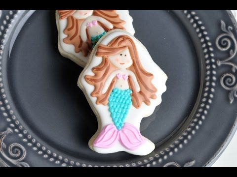 Mermaid Cookies and Easy Pin Prick Airbrush/Color Spray Transfer Method https://www.youtube.com/watch?v=qhNQTMbkGYA