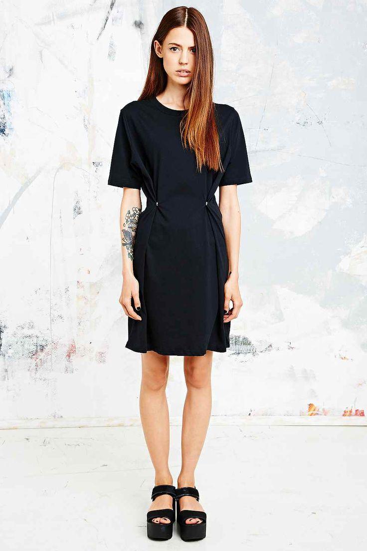 cheap monday dark t shirt dress in black utility. Black Bedroom Furniture Sets. Home Design Ideas