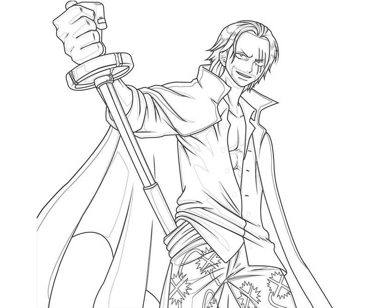 coloring pages one piece | One Piece Shanks Sword Coloring Pages | fashion ...