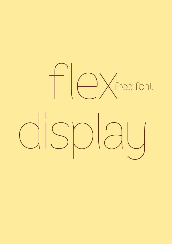 Flex Display - free fonts by Álvaro Thomáz, via Behance