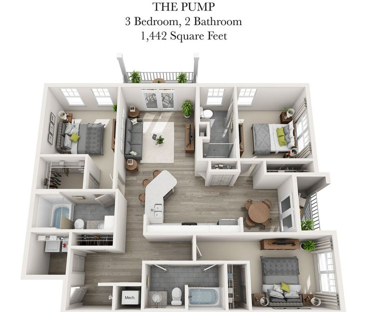 382 best Casas images on Pinterest Small houses, Floor plans and