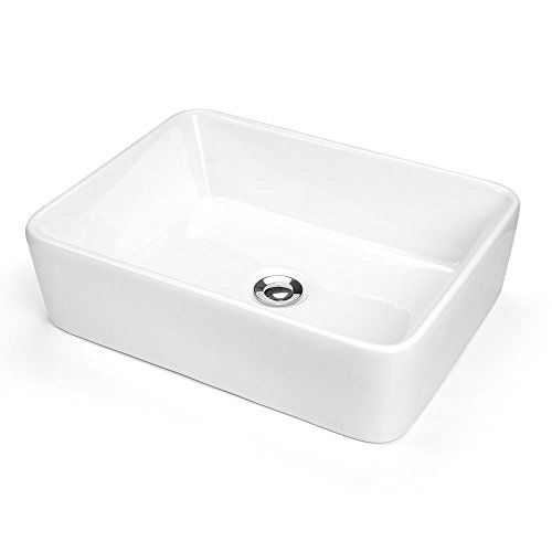 Bathroom Porcelain Vessel Sink White & Chrome Pop Up Drain New Basin US Opt Square Rectangle Yescom http://www.amazon.com/dp/B00P207V5K/ref=cm_sw_r_pi_dp_jPc7vb08QMB6R