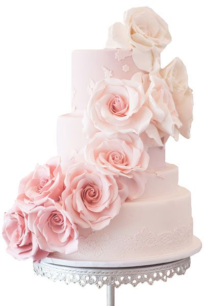 Gorgeous Embellished Wedding Cakes | Wedding Planning, Ideas & Etiquette | Bridal Guide Magazine