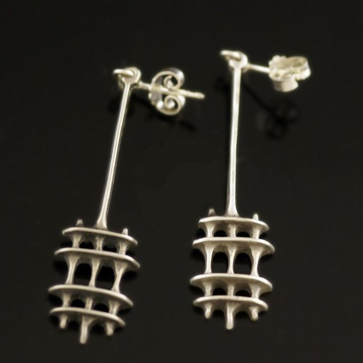 David Andersen Earrings Stamped with Uni, Norway and Sterling 925S