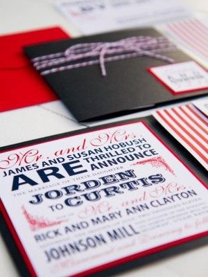 78 best patriotic wedding inspiration images on pinterest | july, Wedding invitations