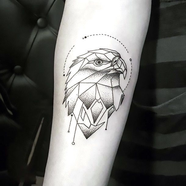 Resultado de imagem para geometric bird tattoo