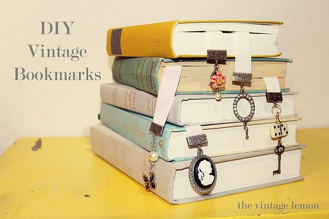 vintage bookmarks tutorial Would love to make these with some of the vintage keys Mom had!