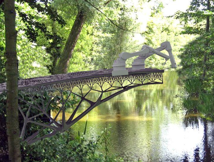 Amsterdam's new 3D-printed steel bridge is revolutionizing the...
