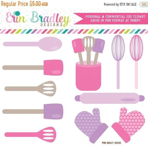 Baking Kitchen Clipart Graphics Pink Purple Cooking Utensils Whisk Spatula Rolling Pin Oven Mitts Clip Art Clip Art Kitchen Clipart Purple Kitchen