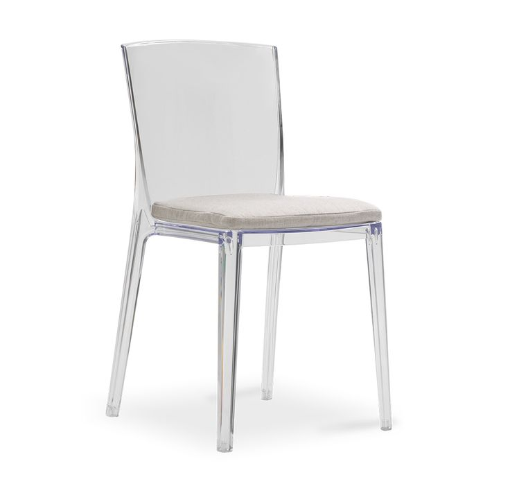 ALAIN CLEAR SIDE CHAIR WITH CUSHION Part 92