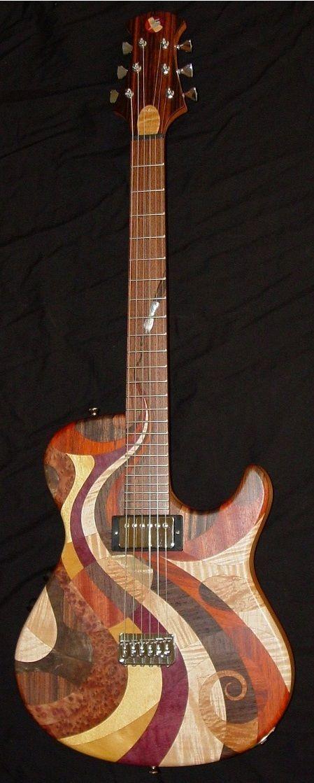 Chris Stambaugh - Spacedelic 67 Art Guitar --- https://www.pinterest.com/lardyfatboy/