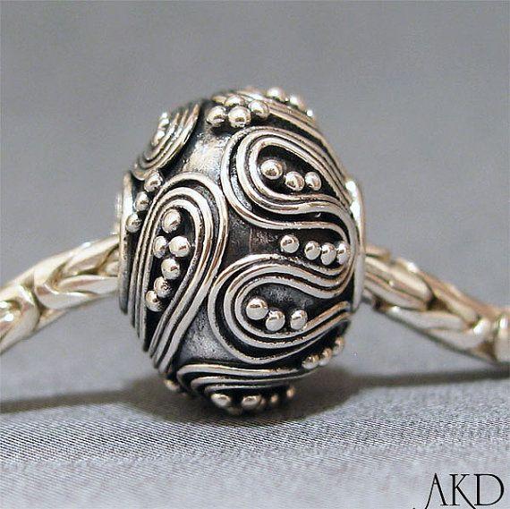 Sterling Silver Big Hole Bead 12 Spacer European Charm Bracelet Bead €22,51