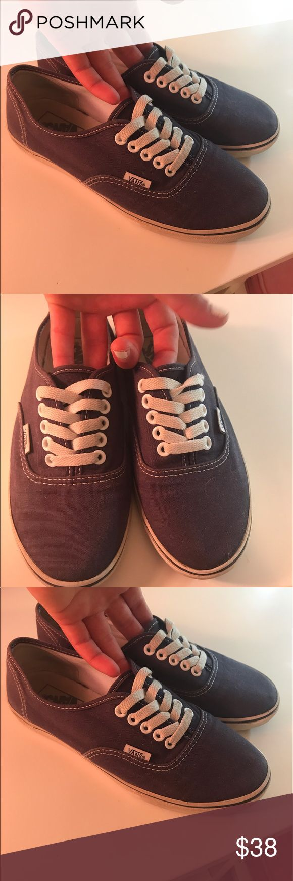 Vans Authentic Navy (perfect condition) Great Condition. Navy Blue. Vans Shoes