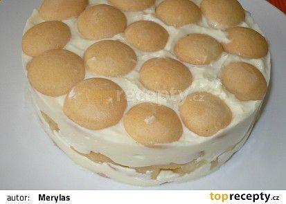 Nepečená tvarohovo - pudingová torta