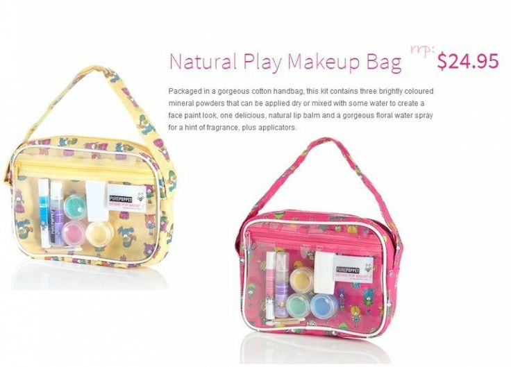 For Kids: PURE POPPET ; Natural Play Makeup Bag - For Mums n Daughters