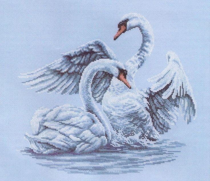 Скачать Swansная верность бесплатно. А также другие схемы вышивок в разделах: Лебеди, RTO, Birds