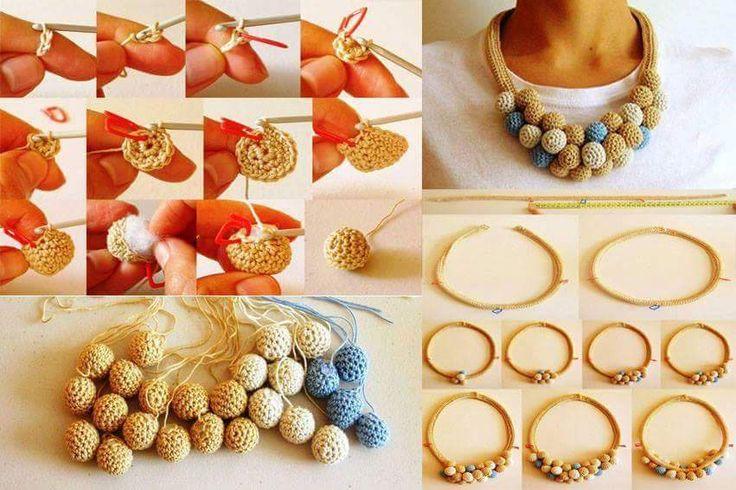 Luty Artes Crochet: Colares e brincos de crochê