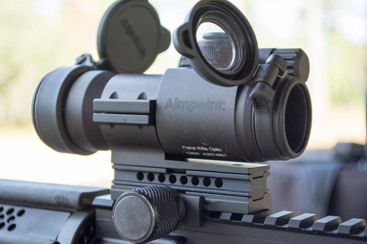 Top 5 Short-range AR Optics, Aimpoint's Patrol Rifle Optic. Note the auto-torquing mount.