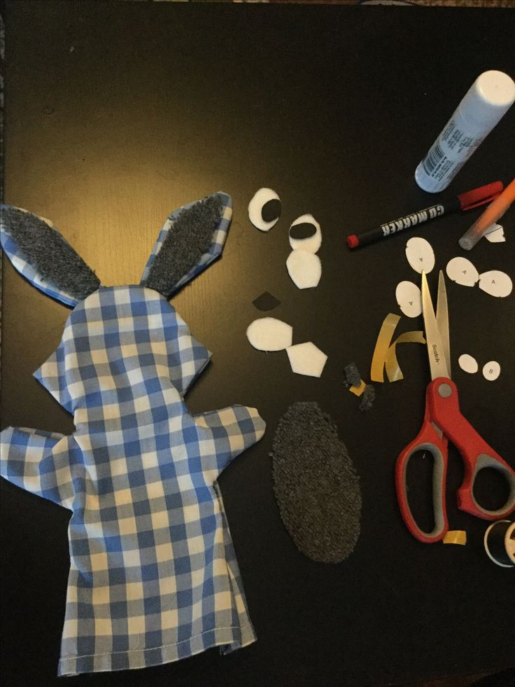 DIY pacynka królik