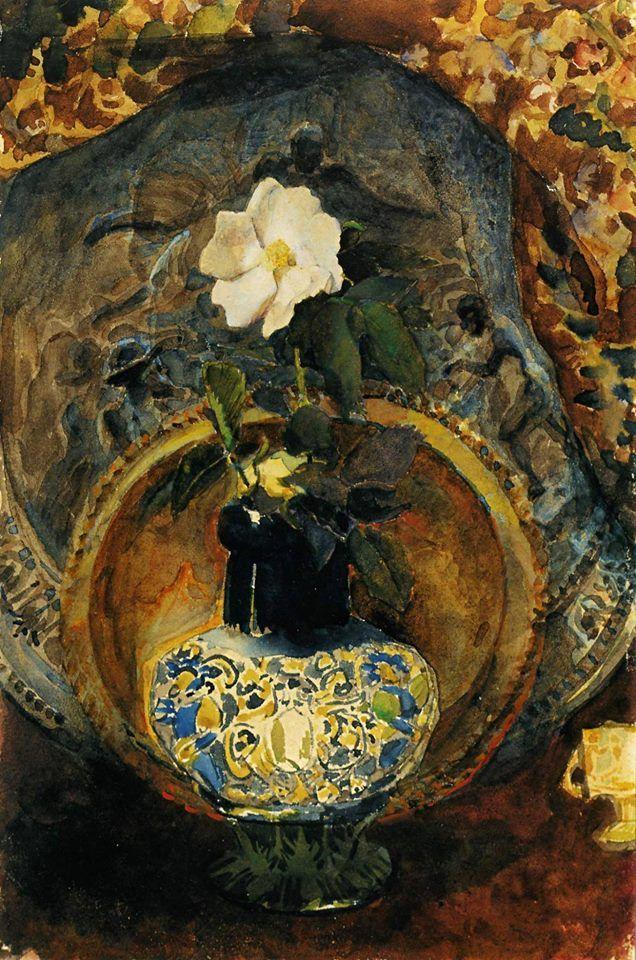 Шиповник  Врубель Михаил Александрович (1856 - 1910 ) 1884; Бумага, акварель. 24 x 16 см Киевский национальный музей русского искусства, Украина