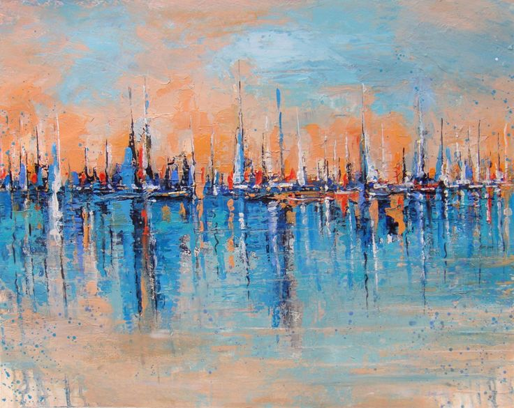 """16"""" x20""""  Sailboat Painting, Original Artwork, Abstract painting on watercolor paper, Fine Art, wall art by karpikiotiArtGallery on Etsy"""