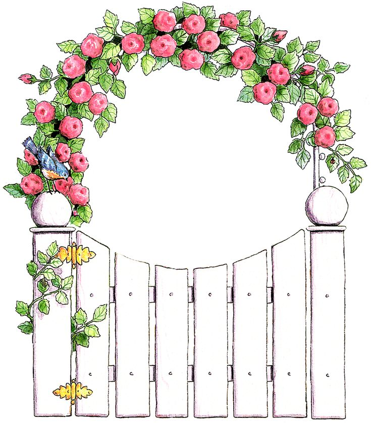 690 best images about clipart collection on pinterest for Cadre floral mural