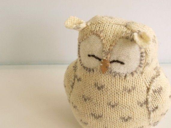 Knitting Stuffed Animals For Beginners : Best knitting owls images on pinterest