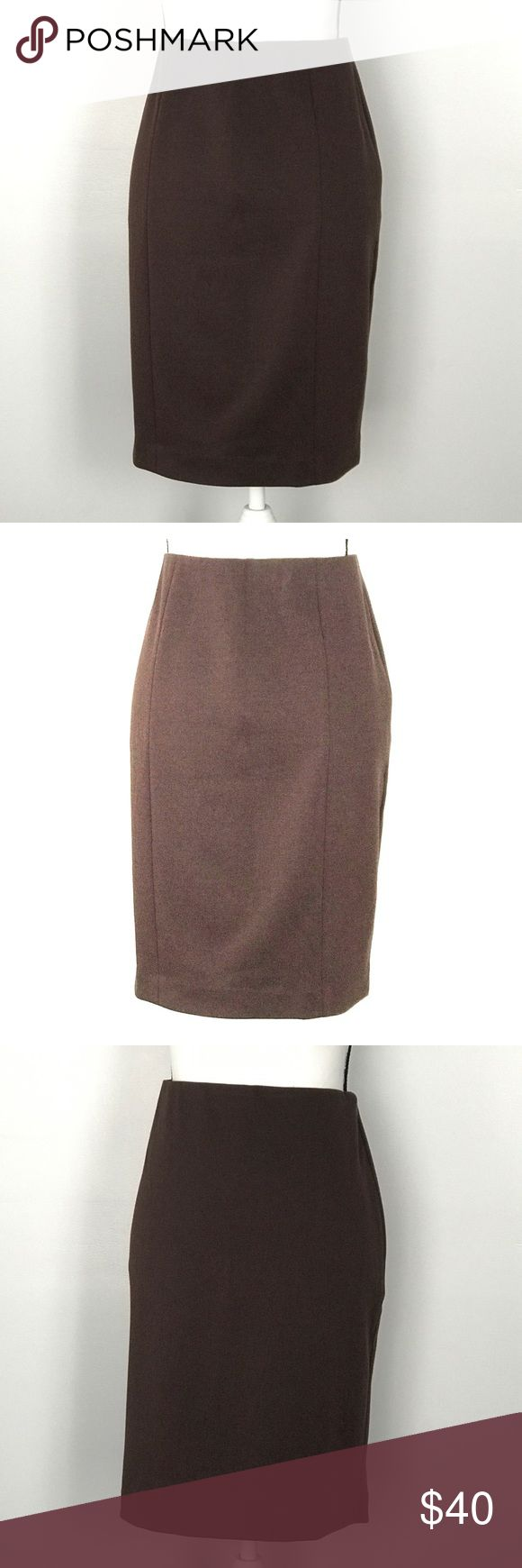 "NWT Vince Camuto Espresso Brown Pencil Skirt New with Tags Vince Camuto Brown Pencil Skirt Waistband has some stretch Side Zipper Size 8 15"" Waist Measured Flat 21.75"" Long MSRP $79.00 Vince Camuto Skirts Pencil"