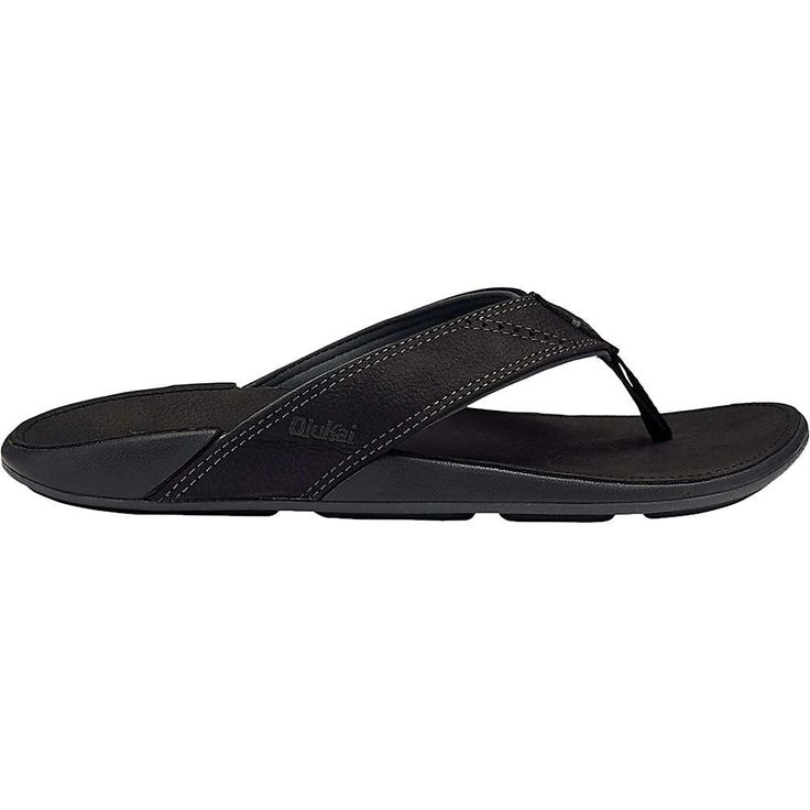 OluKai Men's Nui Sandal - 11 - Onyx / Onyx