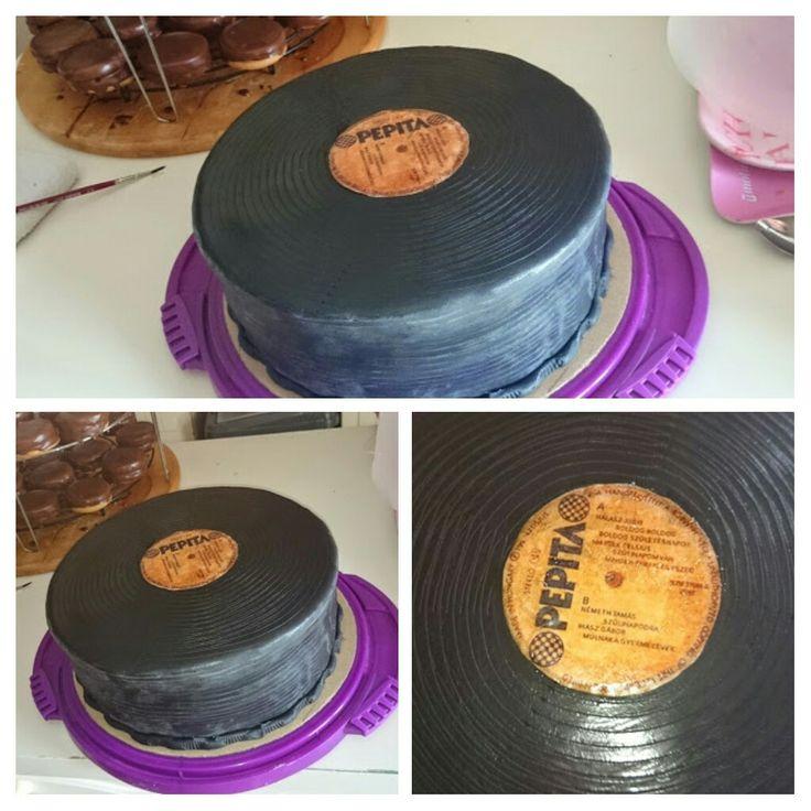 Oldscool, bakelit cake Bakelit lemez 🎂