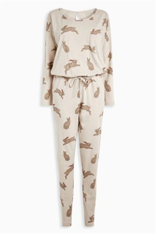 Oatmeal Rabbit Print All-In-One
