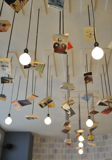 wallbookLibraries, Mcnally Jackson, Old Book, Studios, Lights Fixtures, Ceilings Design, Restaurants Interiors, Lights Ideas, Book Design