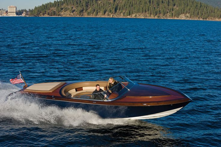 """Coeur 340 Pure Coeur d'Alene Custom 34 Pure is an example of the """"pure"""" definition of Gentleman's Runabout. She is hand-crafted from imported African mahogany and Western red cedar; cold molded using vacuum bag technology to produce excellent weight to strength ratios. This amazing 34' runabout is powered by twin 6.2 liter small block engines …"""