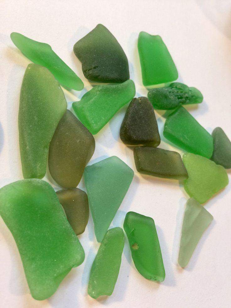 Green Mixed Sea Glass Supply ~ Genuine Texas Sea Glass ~ BeachGlass for sale ~ SeaGlass Jewellery Supplies ~ beach decor ~ Jewelry supply