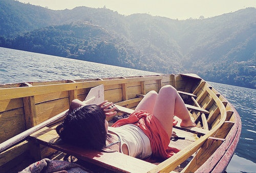 I would never leave this boat.Heart Aches, Lazy Day, Canoes Trips, Lakes, Summer, Places, Boats Riding, Sailing Away, The Sea