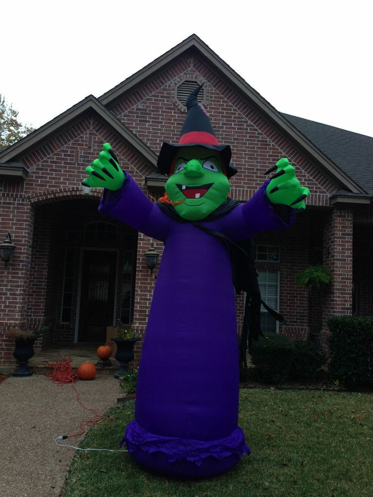 Gemmy Used Halloween Witch Inflatable Airblown