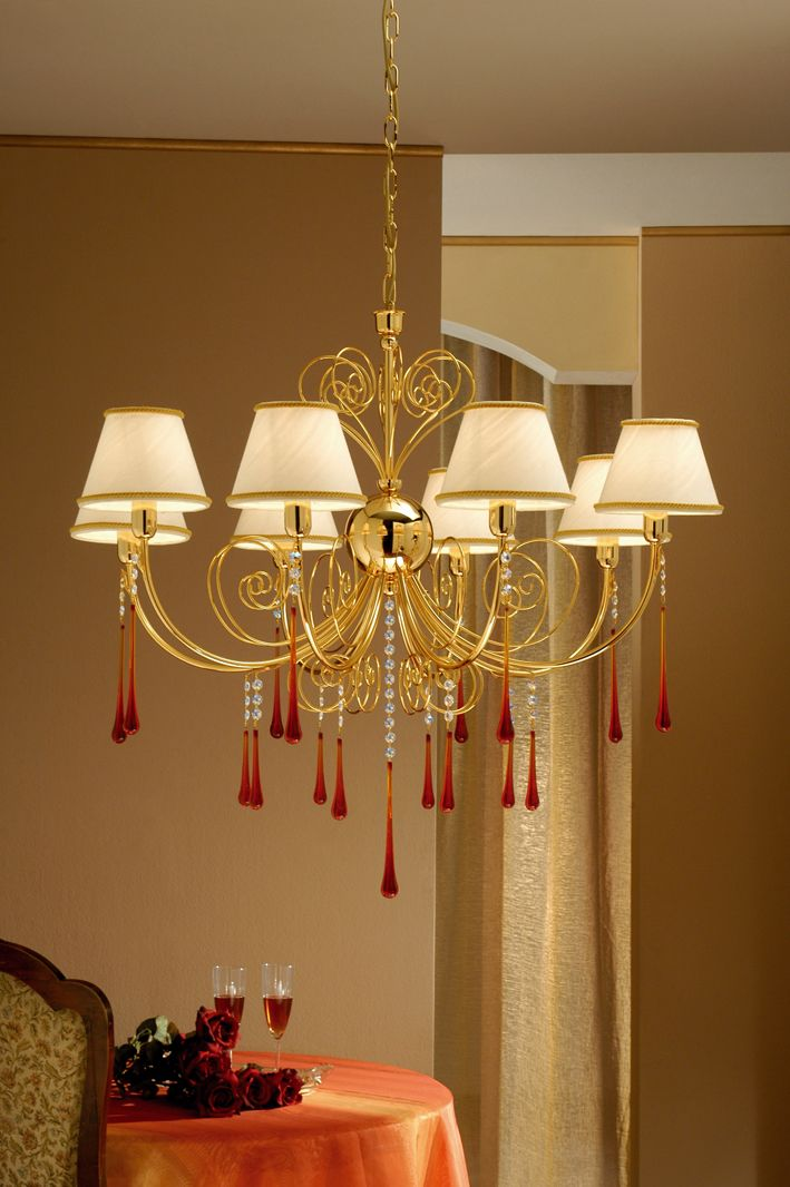 Lampadari Per Grandi Saloni.Lampadario 8 Luci Murano Fashion Crystal Arredo Luce Lampadari