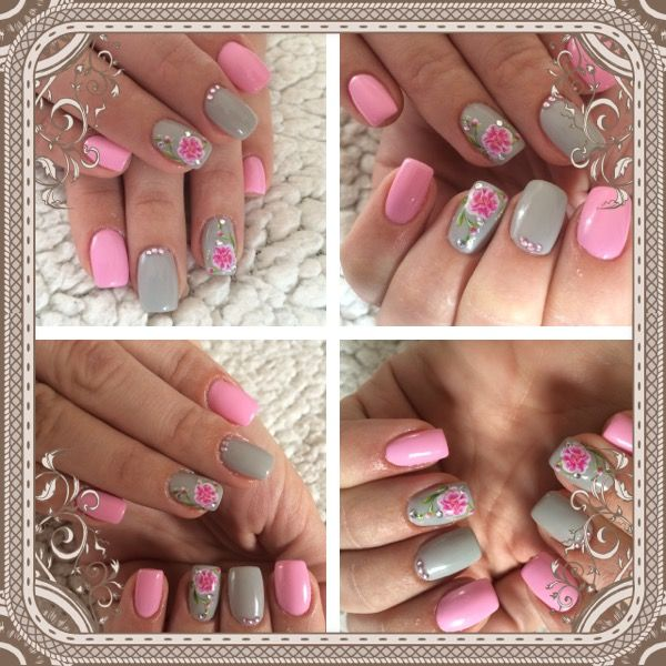 The 25 best pink grey nails ideas on pinterest matt nails lady pink grey nails design prinsesfo Image collections