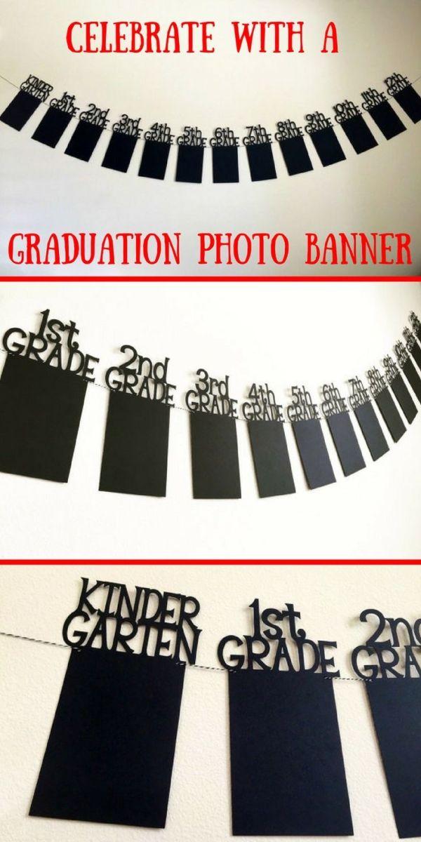 Graduation Photo Banner, Graduation Banner, Graduation Picture Banner, High School Graduation Banner, College Graduation Photo Banner