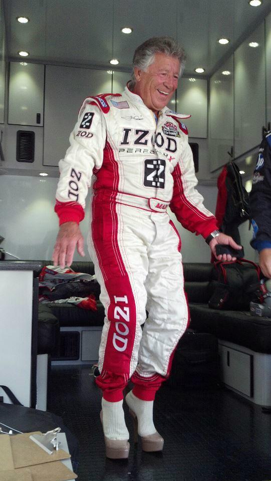 Racing Legend Mario Andretti. Levitating, on Five Inch High Heels. #YouCantMakeThisUp